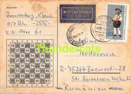 CPA ECHECS CHESS SCHACH AJEDREZ POSTAL PANTELIMON TEODORESCU ROMANIE ROMANIA BRANDENBURG KLAUS DDR DEUTSCHLAND - Schach
