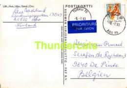 CPA ECHECS CHESS SCHACH AJEDREZ POSTAL FINLAND  ALEXIS ALEX VAN OSMAEL BELGIE BELGIQUE - Scacchi