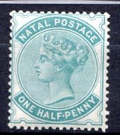 NATAL - (Colonie Britannique) - 1874-80 - N° 28 - 1/2 P. Vert-bleu - (Victoria) - Natal (1857-1909)