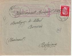 France-Allemagne, Enveloppe Du Camp Communautaire De, Censure - Guerre De 1939-45