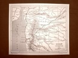 Carta, Cartina O Mappa Del Deccan O Dekkan Occidentale Del 1863 India - Before 1900