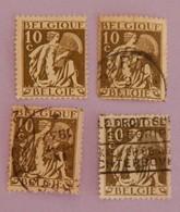"""BELGIQUE 3 X YT 337 OBLITÉRÉS+1 NEUF* AGRICULTURE"""" ANNÉE 1932 - Belgium"""