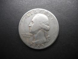 United States ¼ Dollar 1945 D Washington Silver Quarter - 1932-1998: Washington