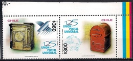 Chile 1999 - MINT - The 125th Anniversary Of Universal Postal Union - Chile