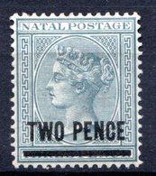 NATAL - (Colonie Britannique) - 1885-91 - N° 52 - 2 P. S. 3 P. Gris - (Victoria) - Afrique Du Sud (...-1961)