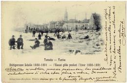 TEMSCHE - TAMISE - Dichtgevrozen Schelde 1890-1891 - L Escaut Gélée Pendant L' Hiver - Edit. Schuerman-Boeykens - Temse