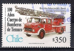 Chile 1999 - The 100th Anniversary Of Temuco Fire Department - Chile