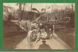 MORCEAU DE CARTE PHOTO ( 12,5 / 8 Cm )  :  MOTO  A IDENTIFIER - Motorräder