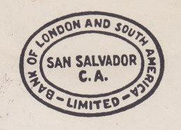 El Salvador BANK OF LONDON AND SOUTH AMERICA Ltd, SAN SALVADOR 1949 Cover Letra BASLE Switzerland Piramide Maya - El Salvador