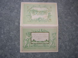 MENU 1880 - CHROMO - POUR LE COMMANDANT EZEMAS - 53e - Menu