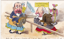 CPA Peinte à La Main RARE Caricature SatiriqueCOMBES / ROUVIER Tournoi  Illustrateur BOBB (2 Scans) - Illustrators & Photographers