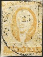 J) 1856 MEXICO, HIDALGO, UN REAL YELLOW, CIRCULAR CANCELLATION, MEXICO DISTRICT, MN - Mexico