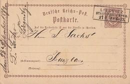 DR Ganzsache R3 Liegnitz Stadt-Post-Exped. 27.9.73 - Briefe U. Dokumente