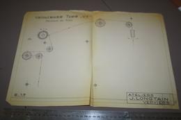 Plan Machine  Type Vt Ateliers J Longtain Laine Verviers Velouteuse - Machines