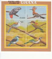 2000 Ghana Birds Oiseaux Kingfisher Hoopoe Complete Miniature Sheet Of 6 MNH - Ghana (1957-...)