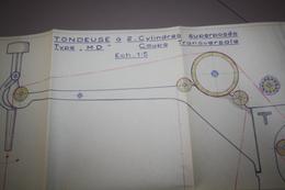 Plan Machine Tondeuse  Type Vt Ateliers J Longtain Laine Verviers - Machines