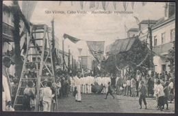 CPA -  CABO VERDE, Sao Vicente, Manifestacao Republicana - Capo Verde
