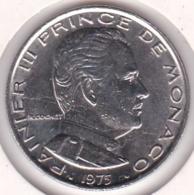 MONACO. 1 FRANC 1975 RAINIER III - Monaco