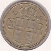 Islande 2 Krónur 1940 Christian X . KM# 4.2 - Islandia
