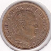 MONACO. 10 CENTIMES 1962  RAINIER III - 1960-2001 Nouveaux Francs