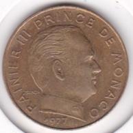 MONACO. 20 CENTIMES 1977  RAINIER III - 1960-2001 Nouveaux Francs