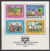 1971 Ghana YWCA Education  Souvenir Sheet MNH - Ghana (1957-...)
