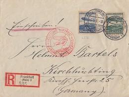DR R-Brief Luftpost Mif Minr.606, 607 Frankfurt 3.5.36 Gel. über USA Nach Deutschland - Briefe U. Dokumente