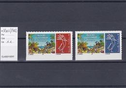 Timbres Personnalisés Adhésifs NOUVELLE CALEDONIE N°1301 Et 1302 Avec Logo Cagou . Rares . Petits Tirages - Nuevos