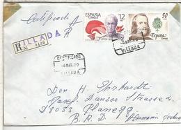 VILLADA PALENCIA CC CERTIFICADA SELLOS FELIPE IV SIMON BOLIVAR - 1931-Hoy: 2ª República - ... Juan Carlos I