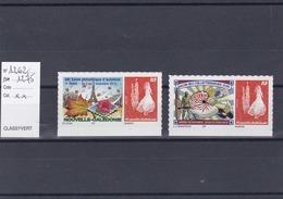 Timbres Personnalisés Adhésifs NOUVELLE CALEDONIE N° 1262 Et 1275 Avec Logo Cagou . Rares . Petits Tirages - Nuevos
