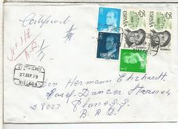 VILLADA PALENCIA CC CERTIFICADA SELLOS PIO BAROJA LITERATURA - 1931-Hoy: 2ª República - ... Juan Carlos I