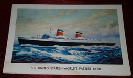 S.S UNITED STATES- WORLD'S FASTEST LINER - Steamers
