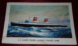 S.S UNITED STATES- WORLD'S FASTEST LINER - Piroscafi