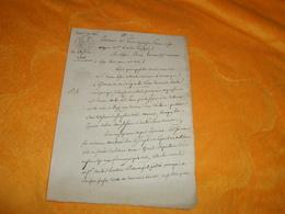 DOCUMENT MANUSCRIT ANCIEN DE 1806 ..QUITTANCE ?...ENREGISTRE A MELUN ?...CACHET REP. FRA. 25C. - Manuscripts