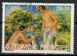Sao Tome Et Principe 1990 Y&T N°1011 - Michel N°(?) (o) - 10d œuvre De Renoir - Sao Tome And Principe