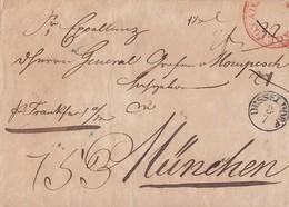 Preussen Brief K1 Düsseldorf 3.7. Gel. Nach München - Preussen