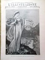 L'illustrazione Italiana 31 Ottobre 1915 WW1 Edith Cavell Raggi Venezia Balcani - Guerre 1914-18