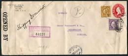 1916 Registered Censor Covers X 2 Tacoma Washington - Copenhagen Denmark (1 Via Goteborg Sweden, 1 Via Bergen Norway) - United States