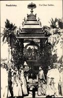 Cp Puducherry Pondicherry Indien, Un Char Indien - Indien