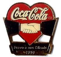 C51 - COCA COLA BRAVO A NOS CLIENTS 1990 - Verso : SM - Coca-Cola