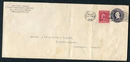 1918 USA United Petroleum Company, Censor Cover. Philadelphia - Copenhagen Denmark - United States