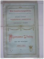 Sint Lambertusgesticht Eeckeren Ekeren Algemene Uitslag Schooljaar 1914-1915  24 Pag. Form 14 X 2,5 Cm - Diplome Und Schulzeugnisse