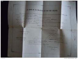 Bruxelles 1861 Certificat Malengraux Maximilien De Paturages Est Apte Se Présenter Examen De Candidat Notaire - Diplômes & Bulletins Scolaires