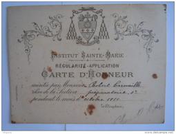 Institut Sainte-Marie Carte D'honneur  1911 Blason Apostolus Jesu Christi - Diplome Und Schulzeugnisse