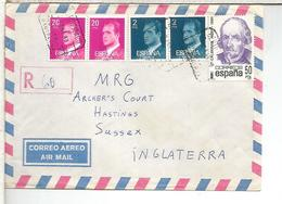 BARCELONA CC CERTIFICADA SELLOS CALDERON DE LA BARCA TEATRO - 1931-Hoy: 2ª República - ... Juan Carlos I