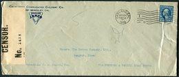 1918 USA California Corrugated Culvert Co. Oakland Censor Cover - Bangkok Thailand Siam - United States