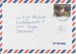 Israel Air Mail Cover Sent To Denmark Single Franked OWL - Airmail