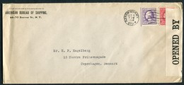 1916 USA American Bureau Of Shipping Censor Cover Station P, New York - Copenhagen Denmark - United States
