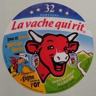 """Etiquette Fromage Fondu - Vache Qui Rit - 32 Portions Bel Pub """"Lucky Luke Et Portion Dorée""""  A Voir ! - Cheese"""