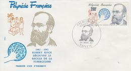 Enveloppe  FDC  1er Jour  POLYNESIE    KOCH    Bacille  De  La   Tuberculose    1982 - FDC